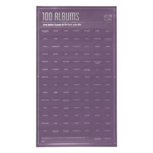 Poster DOIY 100 Albums You Must Listen, 35 x 64 cm