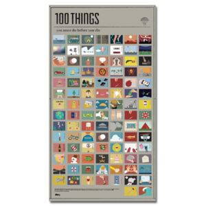 Poster DOIY 100Things You Must Do, 54,5 x 98 cm