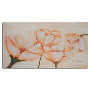 CARO Tablou pe pânză - Light Orange Flowers 40x30 cm