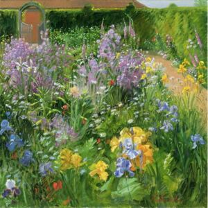 Sweet Rocket, Foxgloves and Irises, 2000 Reproducere, Timothy Easton