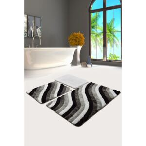 Set 3 covorase baie acril, Chilai Home, Colorful Gri