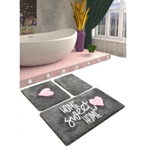 Set 3 covorase baie acril, Alessia Home, Home Sweet Home