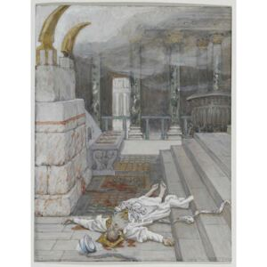 Zacharias Killed Between the Temple and the Altar, illustration from 'The Life of Our Lord Jesus Christ', 1886-96 Reproducere, James Jacques Joseph Tissot