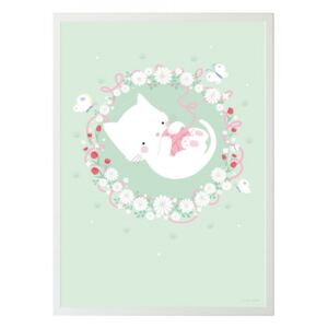Poster multicolor din hartie 50x70 cm Cat A Little Lovely Company