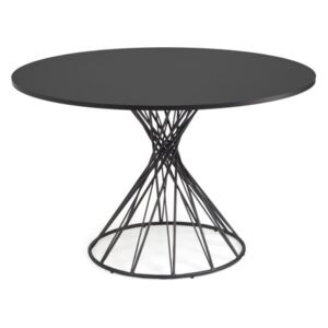 Masa dining neagra din MDF si otel 120 cm Niut Kave Home