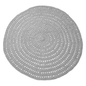 Covor gri din bumbac 150 cm Knitted Rug LABEL51