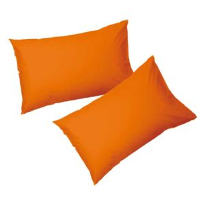 SET 2 FETE DE PERNA 50X70 CM 100% BUMBAC RANFORCE ORANGE