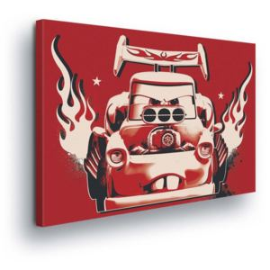 GLIX Tablou - Red Fire Disney Cars II 100x75 cm