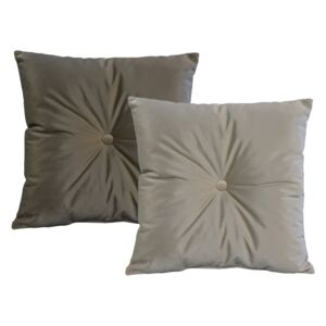 Set 2 perne JohnsonStyle Magic Velvet, 45 x 45 cm, gri