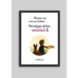 Tablou North Carolina Scandinavian Home Decors Little Prince Quote V5, 33 x 43 cm