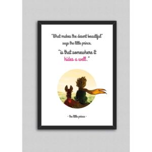 Tablou North Carolina Scandinavian Home Decors Little Prince Quote V7, 33 x 43 cm