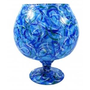 Vaza BLUE GLASS, 19 cm