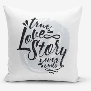 Față de pernă Minimalist Cushion Covers Love Story, 45 x 45 cm