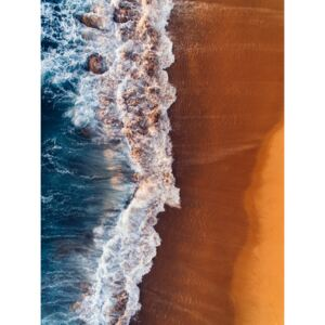 Water arrive to sand, (96 x 128 cm)