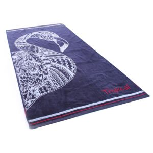Prosop din bumbac DecoKing Navy Flamingo, 90 x 180 cm