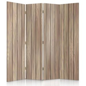 CARO Paravan - Wooden Boards | cvadripartit | unilateral 145x150 cm