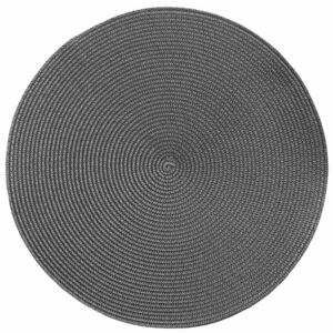 Suport rotund pentru farfurie Tiseco Home Studio Round Chambray, ø 38 cm, gri