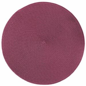 Suport pentru farfurie Tiseco Home Studio Round Chambray, ø 38 cm, roz