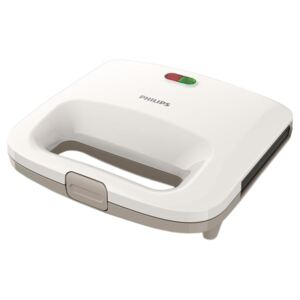Sandwich-Maker Philips Daily Collection HD2392/00, 820 W, Alb/Bej