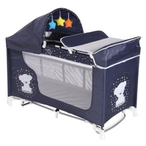 Pat pliant Moonlight Rocker 2 nivele Dark Blue Teddy Bear