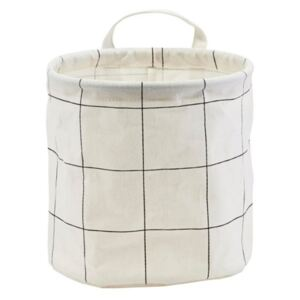 Cos alb din bumbac 20x20 cm Squares House Doctor