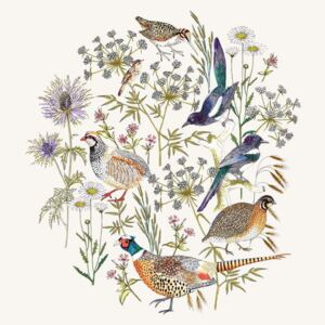 Woodland Edge Birds Placement Reproducere, Jacqueline Colley