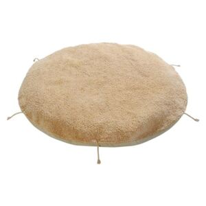 Puf rotund galben miere din bumbac 120 cm Lou Sleepover Lorena Canals