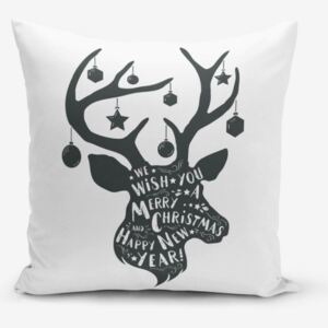 Față de pernă Minimalist Cushion Covers Christmas Deer, 45 x 45 cm
