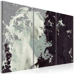Tablou Bimago - Black or white? - triptych 60x40 cm