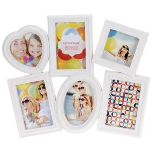 Rama foto clasica, Home Styling Collection, 6 poze, Alb