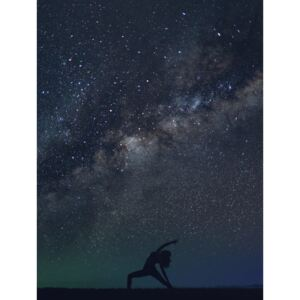 Fotografii artistice Silhouettes of people training yoga withg the milkyways as background II, Javier Pardina