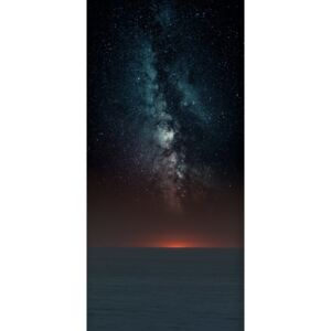 Fotografii artistice Astrophotography picture of sunset sea landscape with milky way on the night sky., Javier Pardina