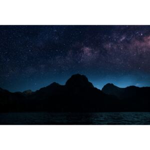 Fotografii artistice Astrophotography picture of Sant Mauricio landscape with milky way on the night sky., Javier Pardina