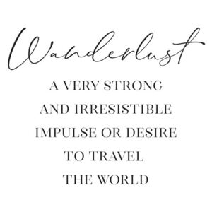 Ilustrare Wanderlust definition in scandinavian style, Blursbyai