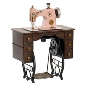 Deco Sewing Machine din metal roz 21x12 cm