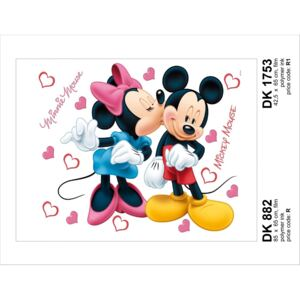 Sticker decorativ DK1753 Minnie Mickey