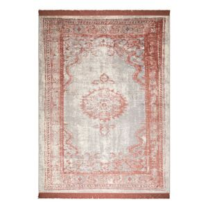 Covor rosu din bumbac si poliester 200x300 cm Marvel Blush Zuiver