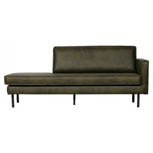 Pat de zi verde army din piele si poliester 203 cm Rodeo Daybed Right Be Pure Home