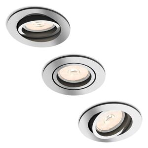 Philips 50393/11/PN - SET 3x Lampa incastrata MYLIVING DONEGAL 3xGU10/5,5W/230V