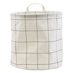 Cos alb din bumbac 30x30 cm Squares House Doctor