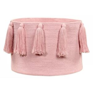Cos roz din bumbac Tassels Pink Lorena Canals