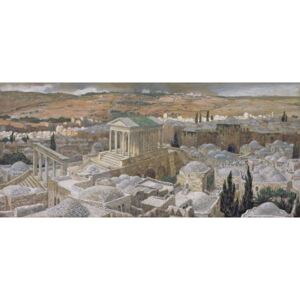 The Pagan Temple Built by Hadrian on the Site of Calvary, illustration for 'The Life of Christ', c.1886-94 Reproducere, James Jacques Joseph Tissot