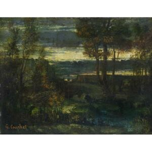 Evening Landscape Reproducere, Gustave Courbet