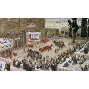 The Forum of Jerusalem as Seen From Above, illustration to 'The Life of Christ', c.1886-96 Reproducere, James Jacques Joseph Tissot