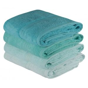 Set 4 prosoape bumbac 100%,Hobby Home, 70x140 cm, Rainbow - Water Green