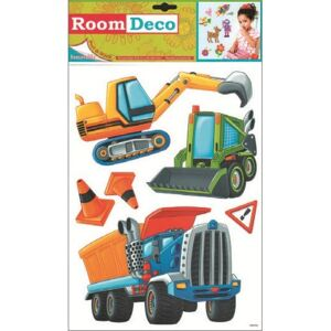 Room Decor Sticker de perete masinute de munca 42x25cm