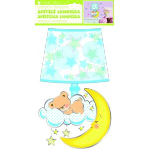 Room Decor Sticker de perete ursulet cu lampa 40x21cm