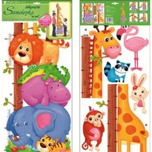 Room Decor Sticker de perete cu masurator inaltime - animale 70x32cm