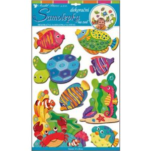 Room Decor Sticker de perete 3D - Animale din ocean 50x30 cm