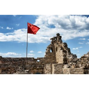 Fotografii artistice China 10MKm2 Collection - Great Wall with the Chinese Flag, Philippe Hugonnard